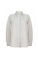 Long-sleeve corduroy shirt