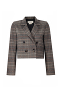Double-breasted checked blazer