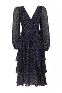 Open back printed midi dress