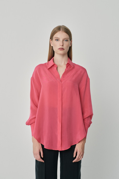 Long-sleeve loose-fit shirt  pink