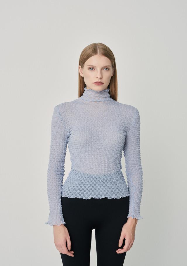 Textured mesh rollneck