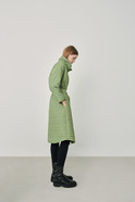 Quilted coat with belt
