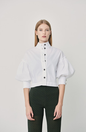 High collar shirt