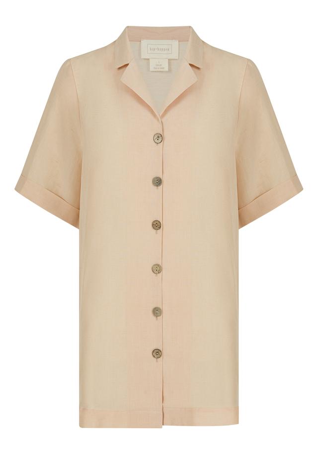 Short sleeve, loose fit, long shirt dress