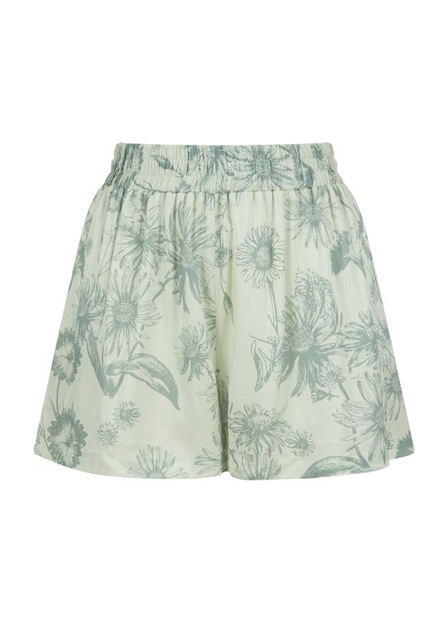 Viscose shorts with elasticated belt side splits