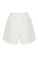 Towel fabric shorts with elasticated belt side splits