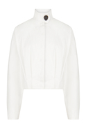 High Collar Long Sleeve Ivory Jacket