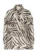 Zebra Printed Long Sleeve Double Pocket Shirt