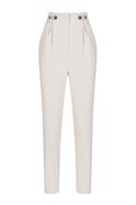 Buttoned Hight Waist Grey Cigarette Pants