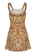 Ruffled Straped Mini Dress