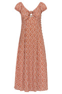 Front Bow Detailed Midi Dress