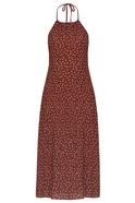 Halter Tie Neck Midi Dress