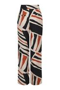 High-Waist Printed Trousers