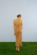Flowing Midi Dress Mustard