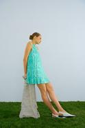 Pleated Mini Dress